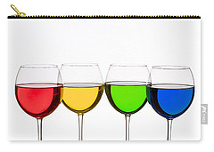 Colorful Wine Glasses Carry-all Pouch