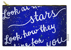 8x10 Look At The Stars Carry-all Pouch by Michelle Eshleman