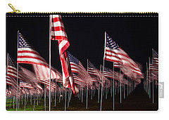 9-11 Flags Carry-all Pouch by Gandz Photography