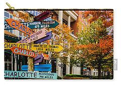 Charlotte City Skyline Autumn Season Carry-all Pouch