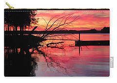 Carry-all Pouch featuring the photograph Sunset 9 by Lisa Wooten