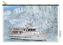 65 Foot World Cruising Yacht Carry-all Pouch by Jack Pumphrey
