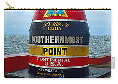 Southernmost Point Key West - 90 Miles To Cuba Carry-all Pouch by Rebecca Korpita