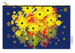 952 - Summer Flowers  Yellow ... Carry-all Pouch