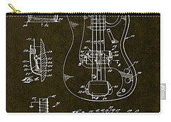 1961 Fender Bass Pickup Patent Art Carry-all Pouch