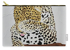 Carry-all Pouch featuring the painting 97.. 95..99....100  Ready Or Not by Stephanie Grant