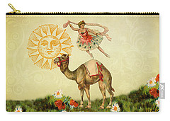 Carry-all Pouch featuring the digital art A Ballerina And Her Camel by Peggy Collins