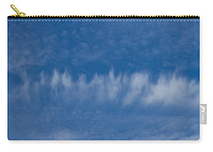 Carry-all Pouch featuring the photograph A Batch Of Interesting Clouds In A Blue Sky by Eti Reid