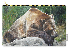 Carry-all Pouch featuring the painting A Bear Of A Prayer by Lori Brackett