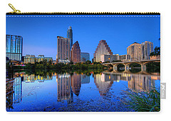 A Beautiful Austin Evening Carry-all Pouch by Dave Files