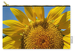 Carry-all Pouch featuring the digital art A Beautiful Day In The Sunflower Neighborhood by Eva Kaufman