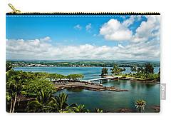 A Beautiful Day Over Hilo Bay Carry-all Pouch by Christopher Holmes