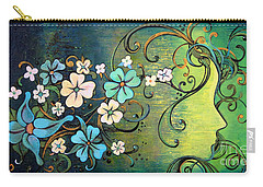 A Beautiful Mind Carry-all Pouch by Shadia Derbyshire