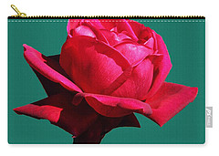 Carry-all Pouch featuring the photograph A Big Red Rose by Tom Janca