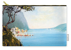 Carry-all Pouch featuring the painting A Boat On The Beach by Lee Piper