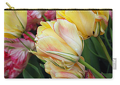 Carry-all Pouch featuring the digital art A Bouquet Of Tulips For You by Eva Kaufman