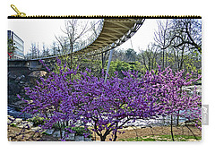 Carry-all Pouch featuring the photograph A Bridge To Spring by Larry Bishop