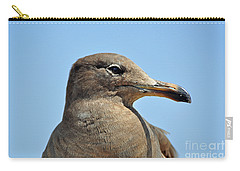 A Brown Gull In Profile Carry-all Pouch by Susan Wiedmann