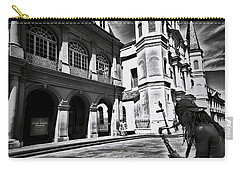 Carry-all Pouch featuring the photograph A Buck At A Time by Robert McCubbin