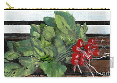 A Bunch Of Radishes  Carry-all Pouch by Francine Heykoop