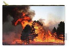 Carry-all Pouch featuring the photograph A Burst Of Flames From The White Draw Fire by Bill Gabbert