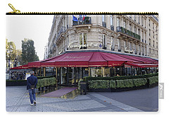 A Cafe On The Champs Elysees In Paris France Carry-all Pouch