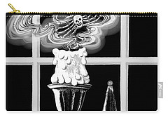 Carry-all Pouch featuring the digital art A Candle Snuffed by Carol Jacobs