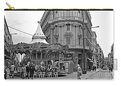 Carry-all Pouch featuring the photograph A Carousel by Cendrine Marrouat