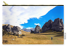 Carry-all Pouch featuring the photograph A Castle Hill Walk by Stuart Litoff