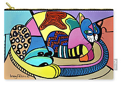 Carry-all Pouch featuring the painting A Cat Named Picasso by Anthony Falbo