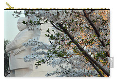 Carry-all Pouch featuring the photograph A Cherry Blossomed Martin Luther King by Cora Wandel