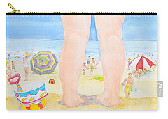 A Child Remembers The Beach Carry-all Pouch by Michele Myers