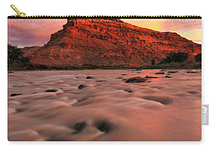 Carry-all Pouch featuring the photograph A Chocolate Milk River by Ronda Kimbrow