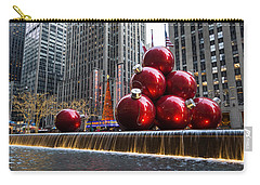 A Christmas Card From New York City - Radio City Music Hall And The Giant Red Balls Carry-all Pouch