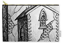 Carry-all Pouch featuring the painting Old Church by Salman Ravish
