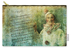 Carry-all Pouch featuring the digital art A Clown On Broadway by Peggy Collins
