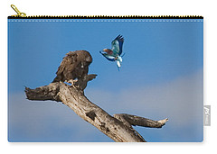 Carry-all Pouch featuring the photograph A Confrontation  by J L Woody Wooden