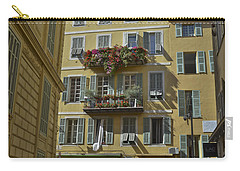 Carry-all Pouch featuring the photograph A Corner In Nice by Allen Sheffield