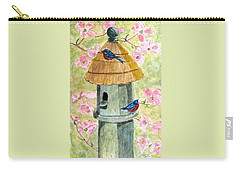 Carry-all Pouch featuring the painting A Cottage For Two by Angela Davies