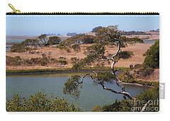 Carry-all Pouch featuring the photograph A Cove In Late Summer At Elkhorn Slough by Susan Wiedmann