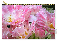 A Crowd Of Tulips Carry-all Pouch by Byron Varvarigos