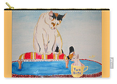 Carry-all Pouch featuring the painting A Cup Of Chihuahua by Phyllis Kaltenbach
