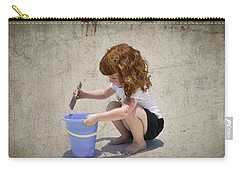 A Day At The Beach Carry-all Pouch by Charles Beeler