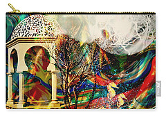 Carry-all Pouch featuring the mixed media A Day In The Park by Ally  White