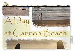 A Day On Cannon Beach Carry-all Pouch by Sharon Elliott