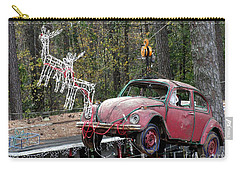 Carry-all Pouch featuring the photograph A Difference Sleigh  by Donna Brown