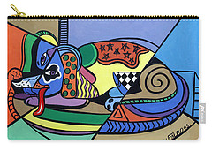 Carry-all Pouch featuring the painting A Dog Named Picasso by Anthony Falbo