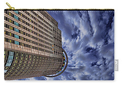 Carry-all Pouch featuring the photograph A Drifting Skyscraper by Ron Shoshani