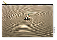 Carry-all Pouch featuring the photograph A Duck Making Waves by Gary Slawsky