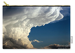 Carry-all Pouch featuring the photograph A Face In The Clouds by Barbara Chichester